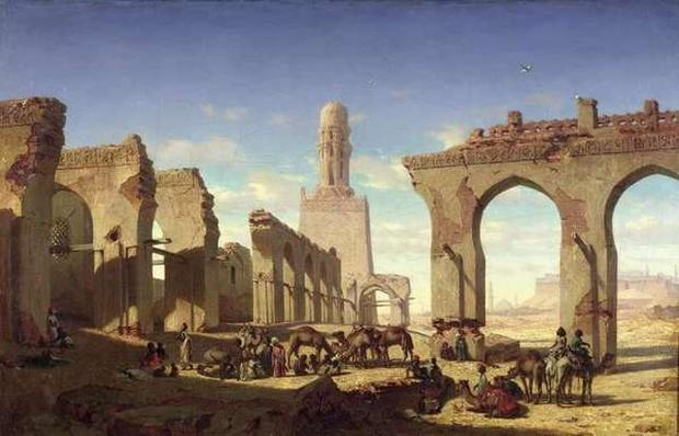 Ruins of the Mosque of the Caliph El Haken, Cairo, c.1840