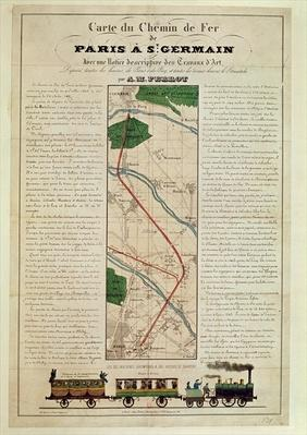 Map of the Paris to St. Germain Railway, by A.M. Perrot, 26th August 1837