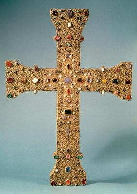 Reliquary cross of the Abbey of Valesse