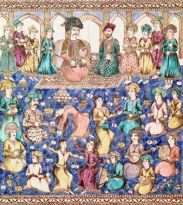 Musicians and dancers at the court of Nasser al-Din Shah Qajar