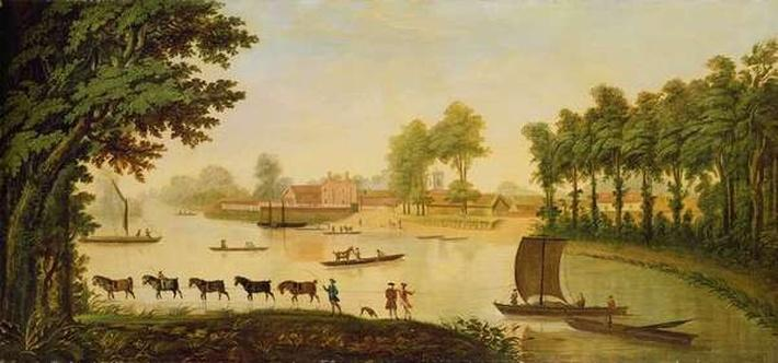 View of the Shepperton on the River Thames, after 1752