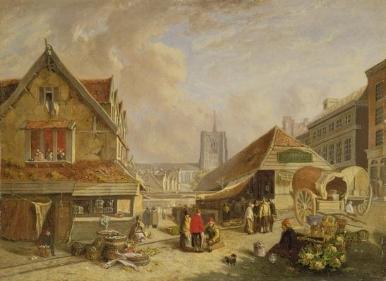 The Old Fishmarket, Norwich, 1825