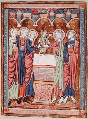 Ms 3016 fol.10 The Circumcision, from 'Psautier a l'Usage de Paris'