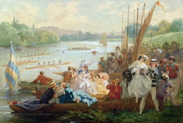 A Regatta at Asnieres during the Second Empire