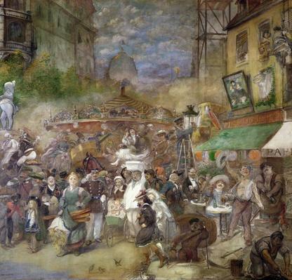 Decorative panel depicting Paris, Salon de la Commission du Personnel