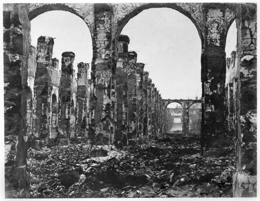 Ruins of the Cour des Comptes during the Commune of Paris, 1871