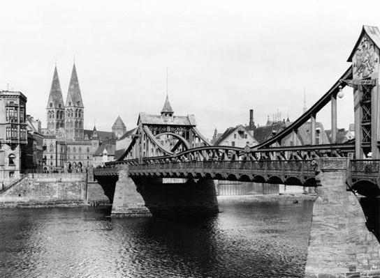 Weser Bridge, Bremen, c.1910