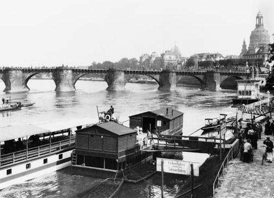 Augustus Bridge, Dresden, c.1910