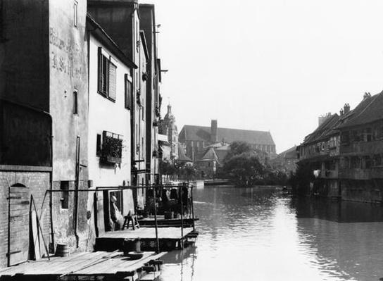 The River Gera at Erfurt, Thiringia, c.1910