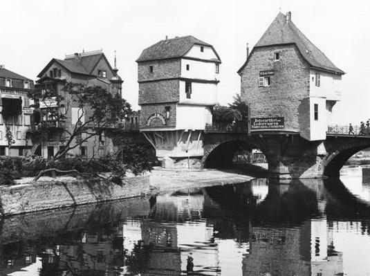 Nahe Bridge, Bad Kreuznach, c.1910