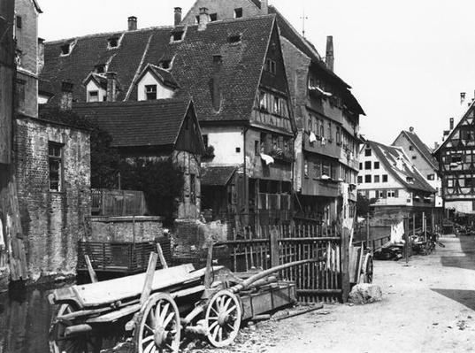 View of the Old Quarter, Ulm, c.1910