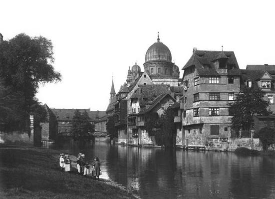The synagogue at Nuremberg, c.1910