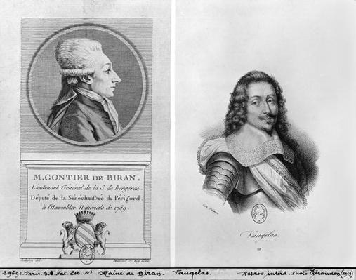Portrait of Marie Francois Gontier de Biran known as Maine de Biran