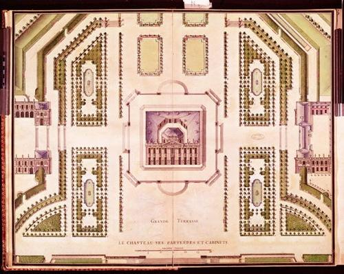 Plan of the Grand Terrasse of the Chateau de Marly, 1714
