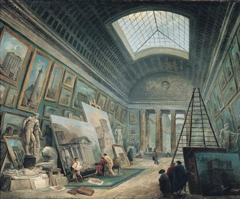 A Museum Gallery with Ancient Roman Art, before 1800