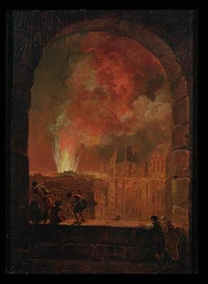 Fire at the Opera of the Palais-Royal, View from the Louvre, 1781