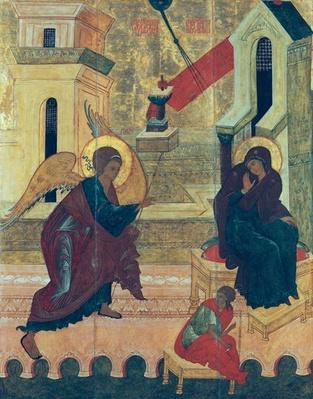 Icon depicting the Annunciation