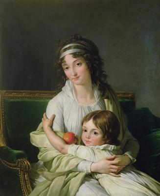 Portrait presumed to be Madame Jeanne-Justine Boyer-Fonfrede and her son, Henri
