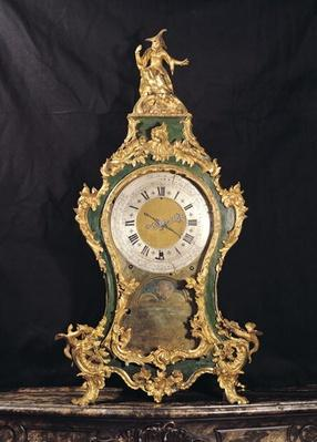 Louis XV Style clock surmounted by a chinese man