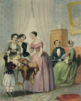 The Wedding Presents, engraved by Bettanier, 1852-53
