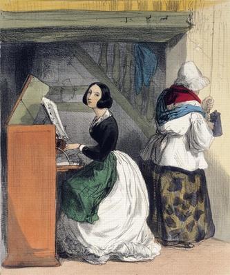 A Music School Pupil, from 'Les Femmes de Paris', 1841-42
