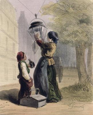 The Lamplighter, from 'Les Femmes de Paris', 1841-42