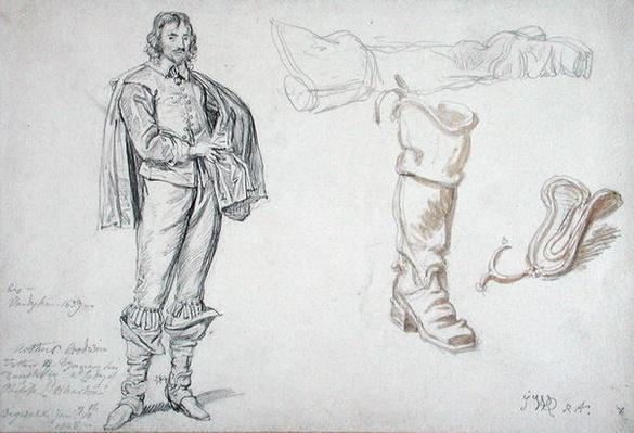 Studies of a Standing Figure, and a Boot, 1825