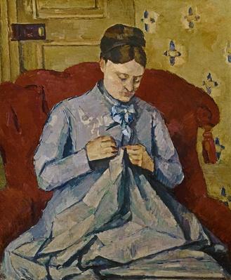 Madame Cezanne sewing