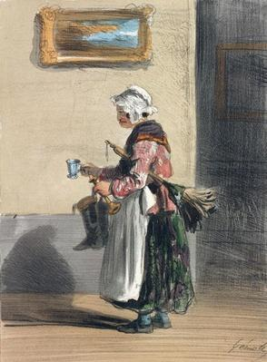 The Cleaning Lady, from 'Les Femmes de Paris', 1841-42