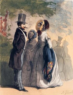 The Regular Visitor to Ranelagh Gardens, from 'Les Femmes de Paris', 1841-42