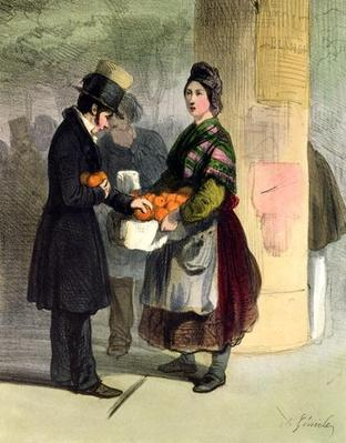 The Orange Seller, from 'Les Femmes de Paris', 1841-42