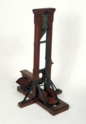 Reduced model of a guillotine