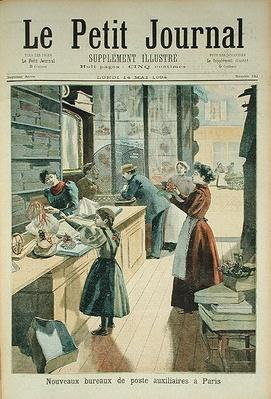 The New Auxiliary Post Office in Paris, from 'Le Petit Journal', 18th May 1894