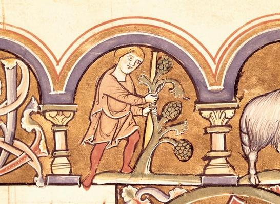March: Grafting Trees, from the Psalter of St. Elizabeth