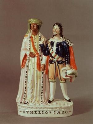 Staffordshire figure of Othello and Iago, c.1858