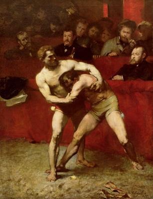 Wrestlers, 1875
