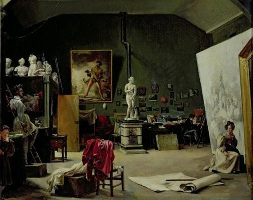 The Studio of Leon Cogniet