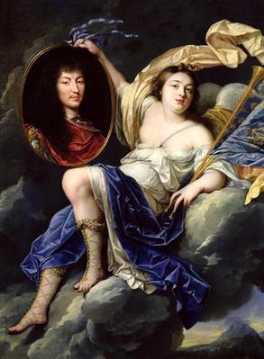 Fame Presenting a Portrait of Louis XIV