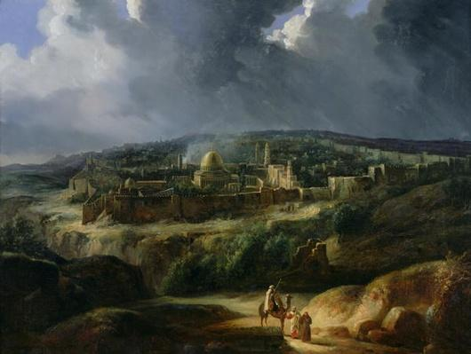 View of Jerusalem from the Valley of Jehoshaphat, 1825