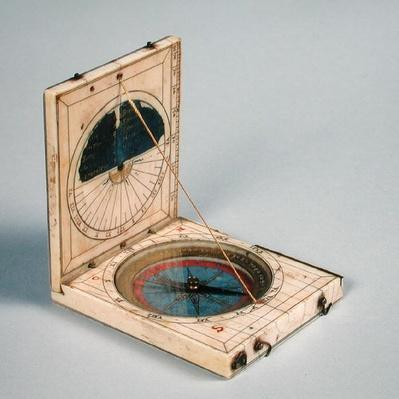 Compass and sundial, made in Dieppe