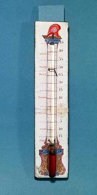Thermometer surmounted with a phrygian bonnet