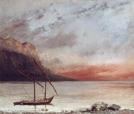 Sunset over Lake Leman, 1874
