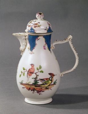 Meissen porcelain coffee pot, c.1760