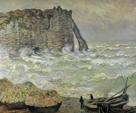 Rough Sea at Etretat, 1883