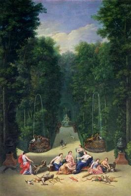 The Groves of Versailles: View of the Maze with Diana and her Nymphs, 1688