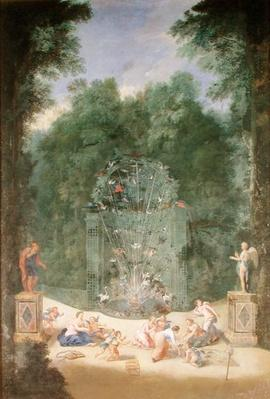 The Groves of Versailles: View of the Entrance to the Maze with Birds, Nymphs and Cherubs, 1688