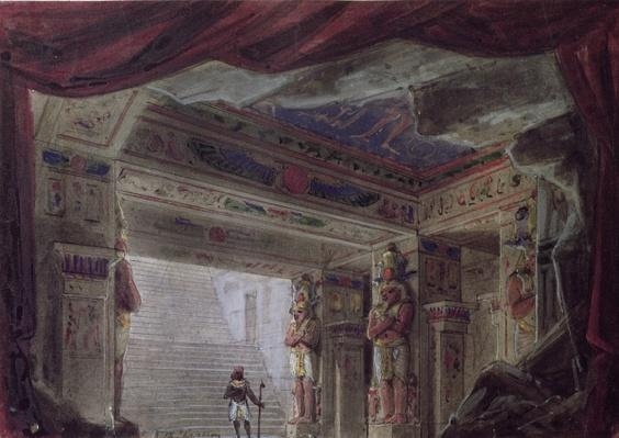 Set design for 'The Magic Flute' by Wolfgang Amadeus Mozart