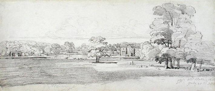 The Old Hall, Tabley, Surrounded by Parkland, 20th July 1814