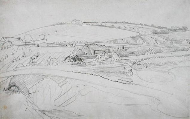 Landscape with Farm and Cornstocks