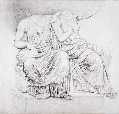 Study of Two Headless Classical Statues